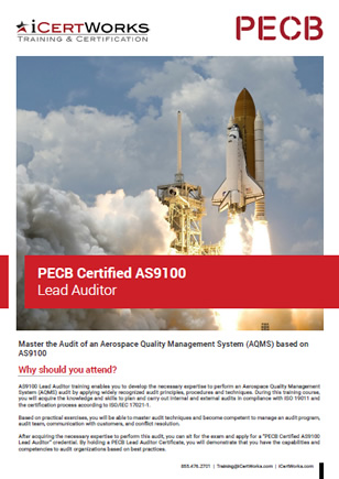 AS9100 Lead Auditor Training Brochure