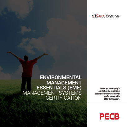 EME Environmental Management Essentials Certification Brochure