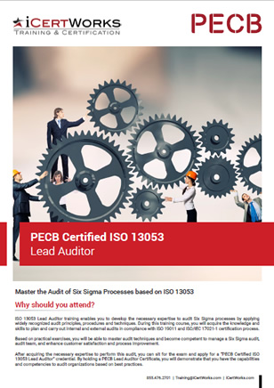 ISO 13053 Lead Auditor Training Brochure