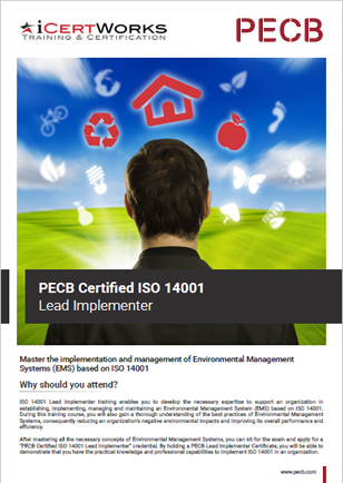 ISO 14001 Lead Implementer Training Brochure