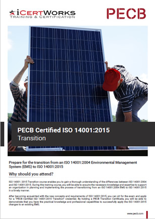 ISO 14001:2015 Transition Training Brochure