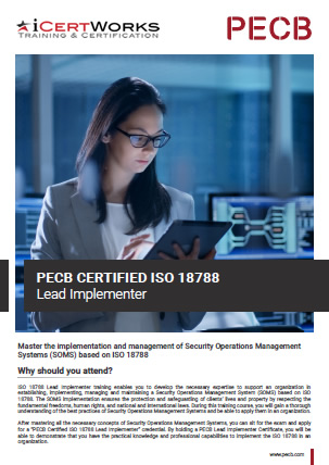 ISO 18788 Lead Implementer Training Brochure