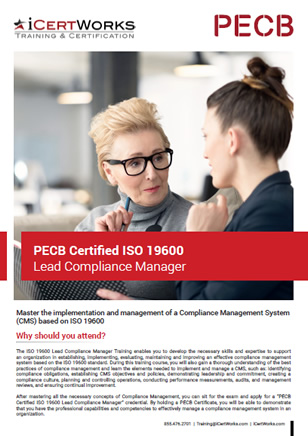 ISO 19600 Lead Compliance Manager Training Brochure