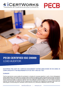 ISO 20000 Lead Auditor Training Brochure