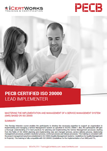 ISO 20000 Lead Implementer Training Brochure