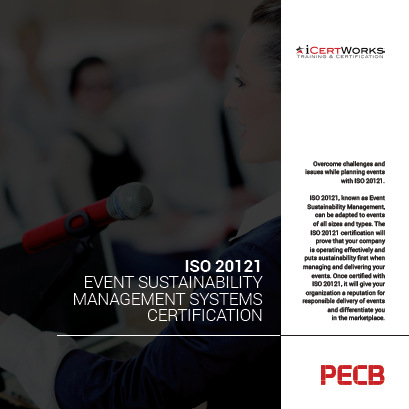 ISO 20121 Event Sustainability Management Systems Certification Brochure