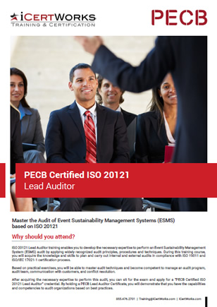 ISO 20121 Lead Auditor Training Brochure