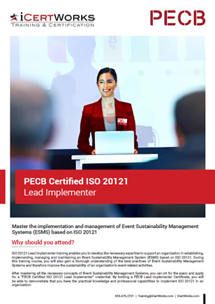ISO 20121 Lead Implementer Training Brochure