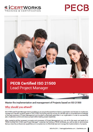 ISO 21500 Lead Project Manager Training Brochure