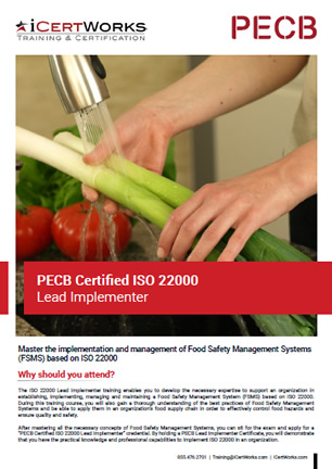 ISO 22000 Lead Implementer Training Brochure
