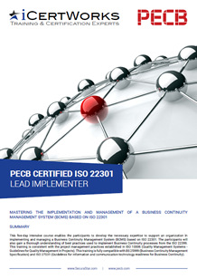 ISO 22301 Lead Implementer Training Brochure