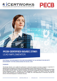 ISO 27001 Lead Implementer Training Brochure