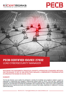 ISO 27032 Cybersecurity Manager Training Brochure