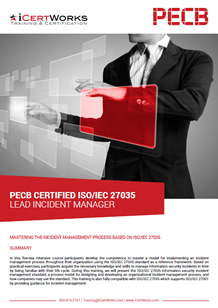 ISO 37035 Lead Incident Manager Training Brochure