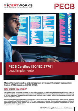 ISO 27701 Lead Implementer Training Brochure