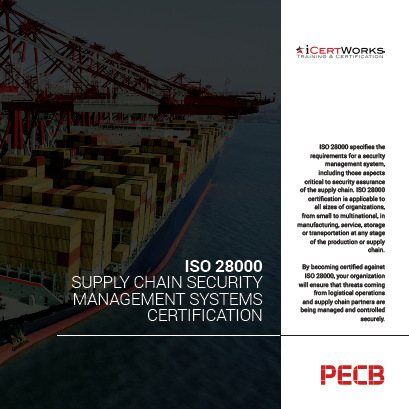 ISO 28000 - Supply Chain Security Management Systems Certification Brochure