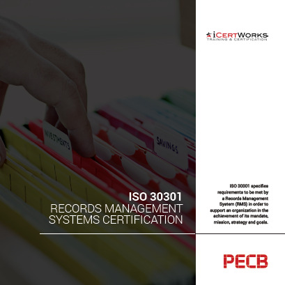 ISO 30301 Records Management Systems Certification Brochure