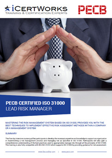 ISO 31000 Lead Risk Manager Training Brochure