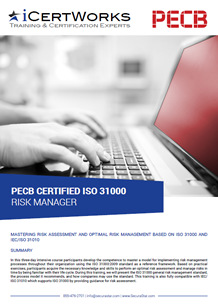 ISO 31000 Risk Manager Training Brochure