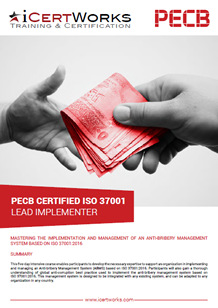 ISO 37001 Lead Implementer Training Brochure