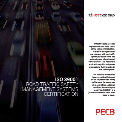 ISO 39001 Road Traffic Safety Management Systems Certification Brochure