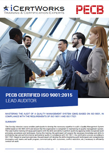 ISO 9001 Lead Auditor Training Brochure