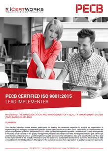 ISO 9001 Lead Implementer Training Brochure