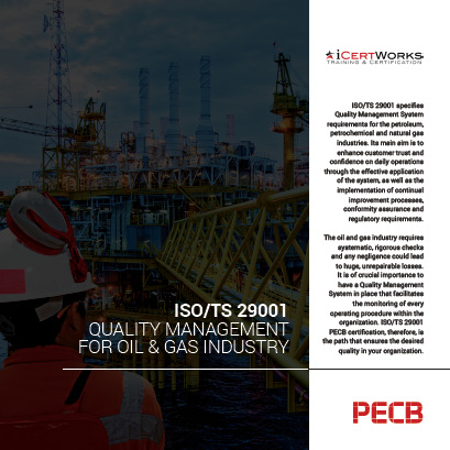 ISO/TS 29001 Quality Management for Oil & Gas Industry Certification Brochure