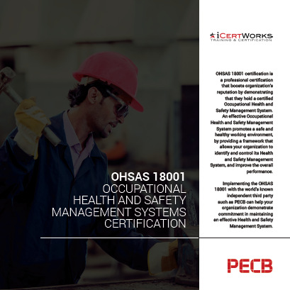 OHSAS 18001 - Occupational Health and Safety Management Systems Certification Brochure